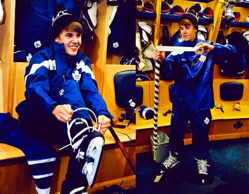 Justin Bieber...huge Toronto Maple Leafs fan!