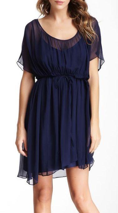 Susana Monaco Elise Silk Layered Flutter Dress