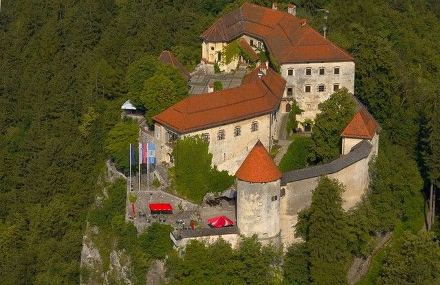 Bled castle, View from air