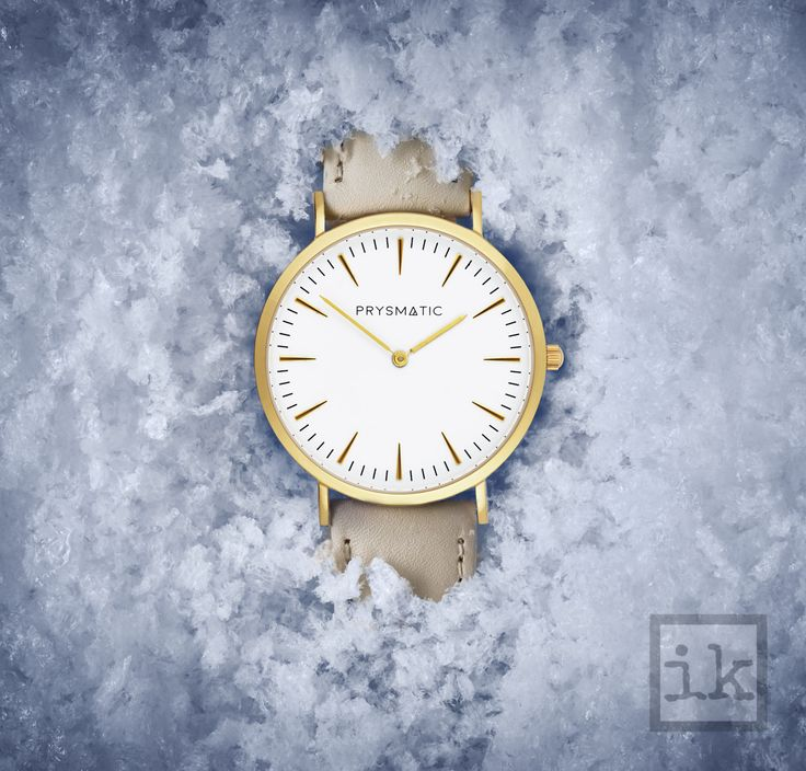 Winter watch in snow - UK product photographer Ian Knaggs