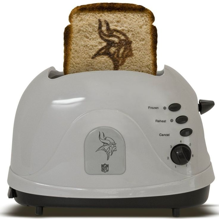 Minnesota Vikings Toaster....coolest thing ever;) neeed this!!!  Vikings fans: check out Greg Jennings do a live web chat on 11/19 at Facebook.com/FedEx, Tweet your questions to #AskJennings