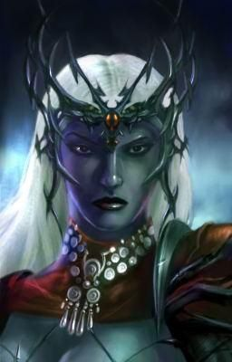 d&d dark elf matron mother Portrait, matrona madre drow Videogame: Neverwinter Nights, Hordes of the Underdark (2003-12) © Atari, Wizards of the Coast & Hasbro