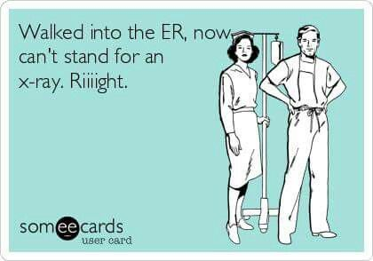 Seriously! It's like ppl forget how to function when they cross the ER threshold!!!
