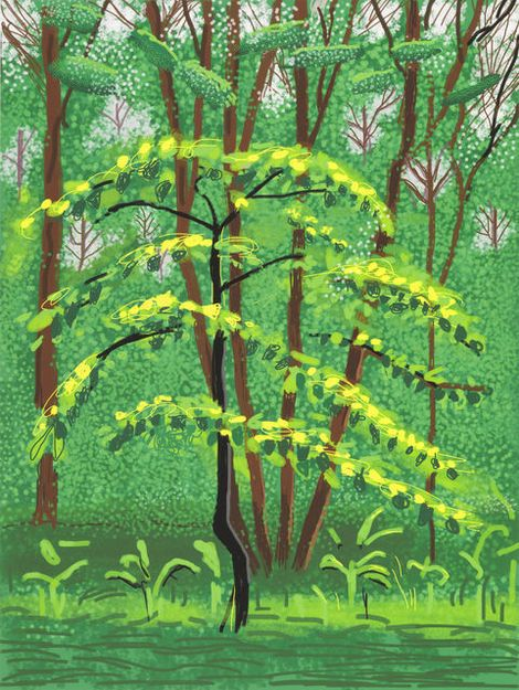 The Arrival of Spring in Woldgate, East Yorkshire- 19th May 2011 / David Hockney