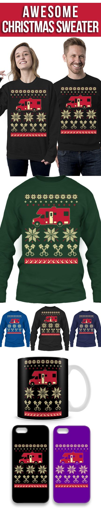 RV Van Ugly Christmas Sweater! Click The Image To Buy It Now or Tag Someone You Want To Buy This For. #rv