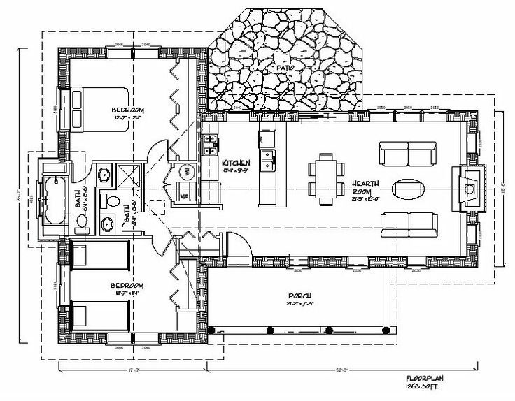 2048 best images about floor plans on pinterest one for Open floor plan cabin