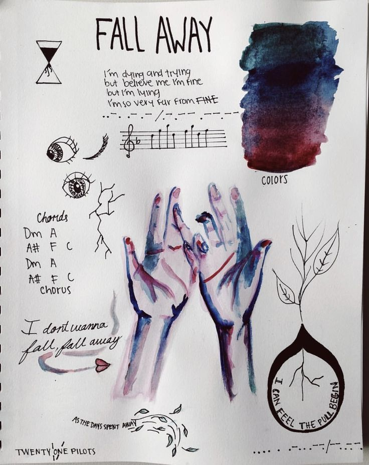 fall away clique art  -/ twenty one pilots I really want to make one of these