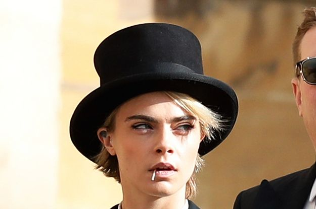 Excuse Me But Cara Delevingne At The Royal Wedding Is Proof That God Is A Lesbian Cara Delevingne Royal Wedding Cara