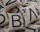 scrabble letter pillows by dirtastudio