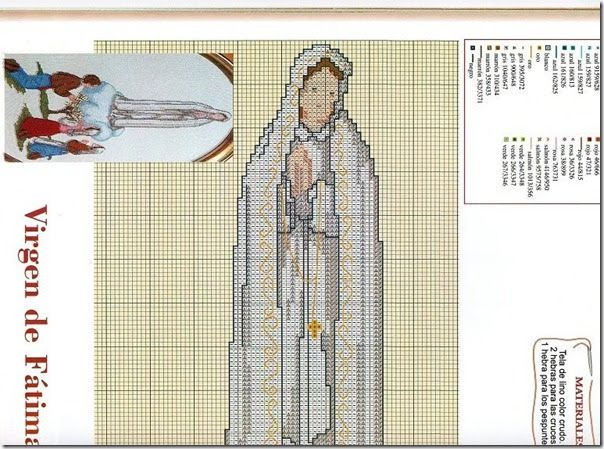 Gratis Punto de cruz: Punto de cruz Virgen de Fátima