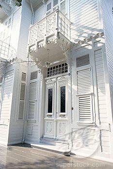 Traditional wooden house, Buyuk Ada, Princes Islands, Turkey, Europe - luv luv