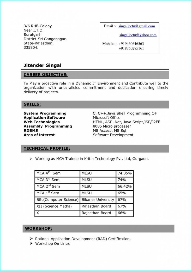 13 Mba Fresher Resume Format Doc di 2020