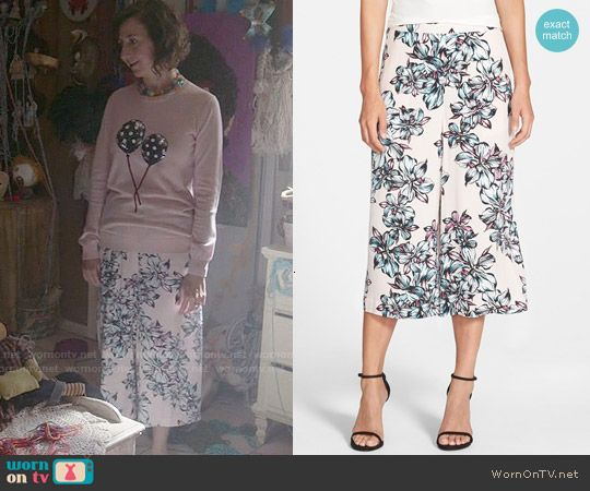 Carol's floral culottes on Last Man on Earth.  Outfit Details: http://wornontv.net/52125/ #LastManOnEarth