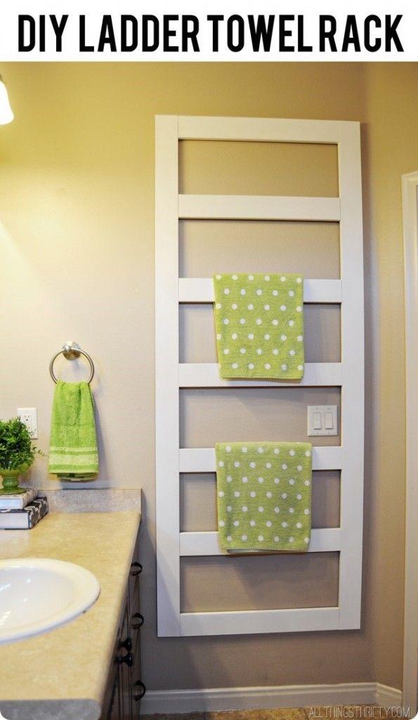 EASY DIY Towel Rack