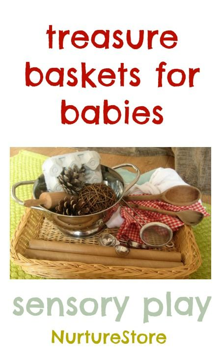 Here's how to make treasure baskets for babies filled with interesting items from around the home to provide your baby with lots of shapes, textures and sizes to explore.
