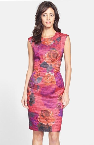 Trina turk 39 delores 39 floral jacquard sheath dress for Nordstrom women s wedding guest dresses