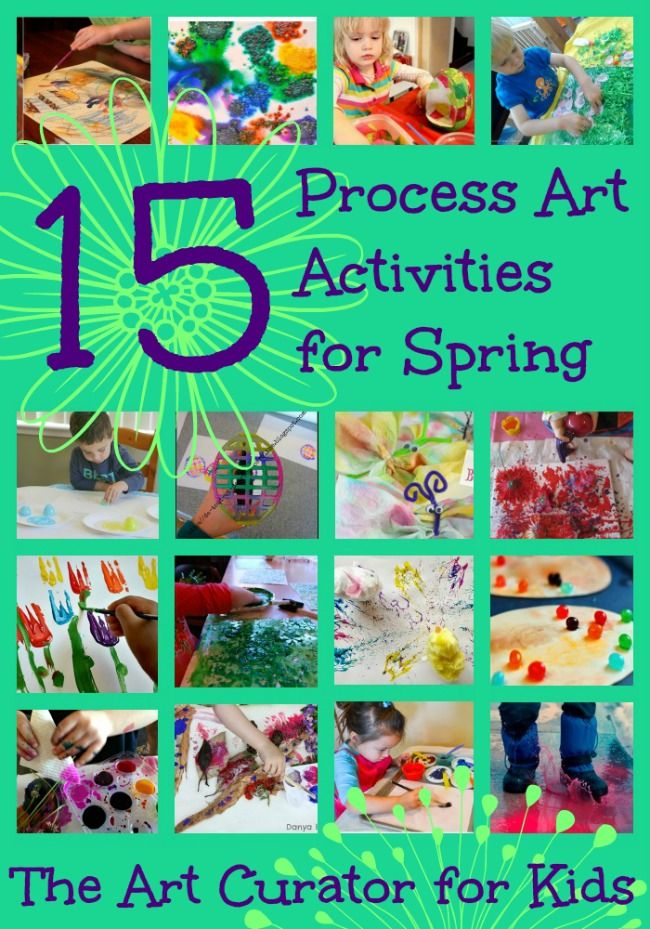 The Art Curator for Kids - Spring Process Art Activities for Kids - Easter Egg Butterfly Flowers Painting