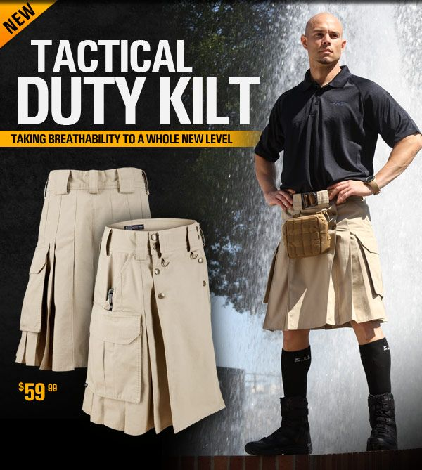Tactical Duty Kilt- Taking breathability to a whole new level. Check out the video.