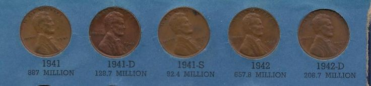 Free WHEAT PENNIES 1941 - 1950 PDS ONLY ON LISTIA