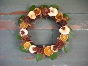 ~ dried fruit and spices wreath
