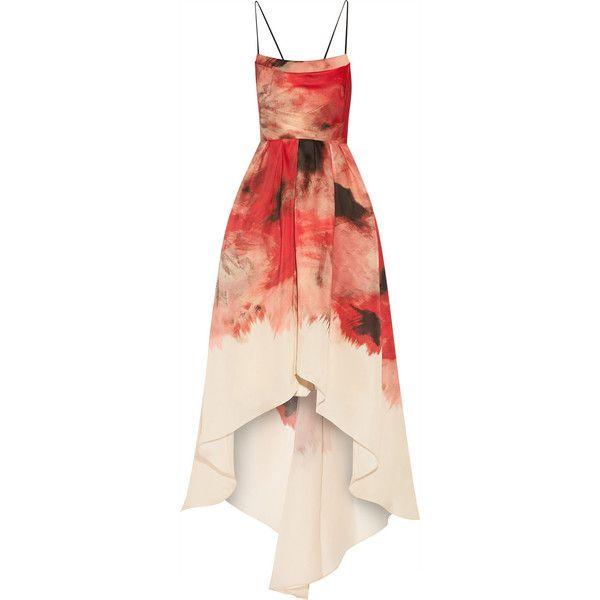 Lela Rose Printed silk-gazar gown found on Polyvore