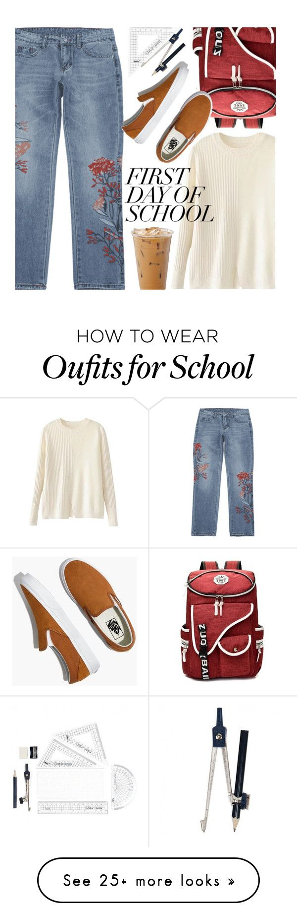 """Campus Chic: First Day of School"" by zaful on Polyvore featuring Madewell"