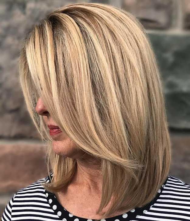 33 Best Hairstyles For Your 40s The Goddess Long Bob Blonde Hair Styles Medium Length Hair Styles
