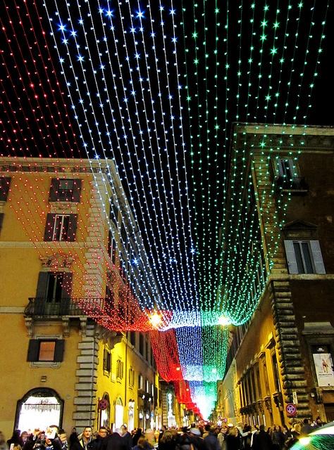 Roma Via del Corso a Natale - Via del Corso in Rome Christmas by maurostar86, via Flickr