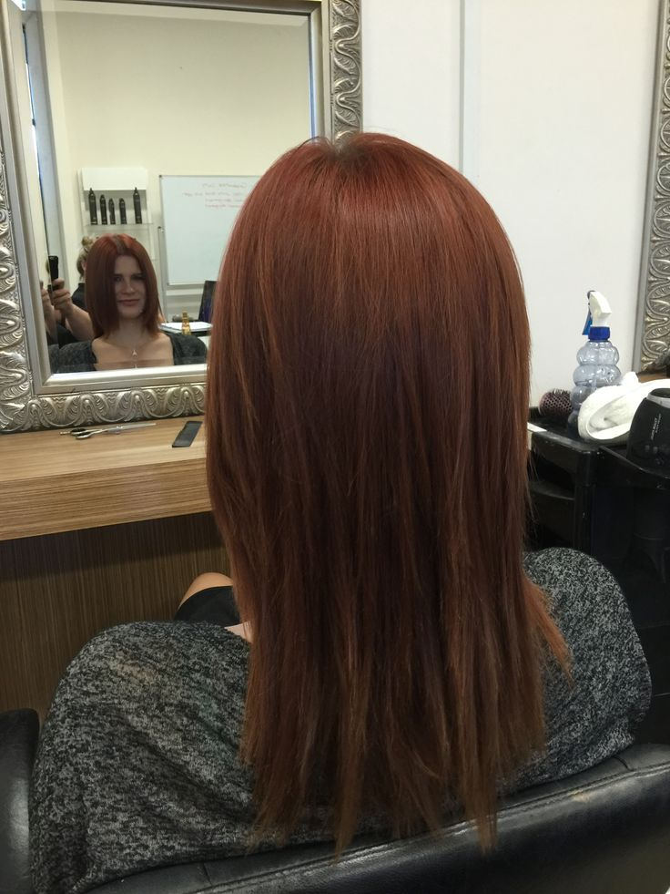 After shot- increased layer hair cut