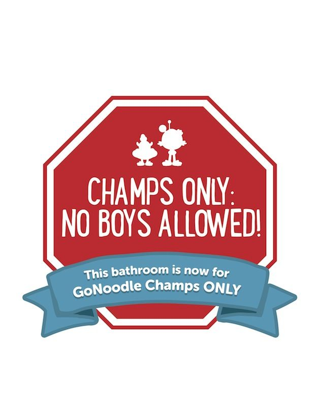 This Sign Is Funny It Says Quot Champs Only No Boys Aloud