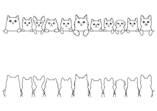 Top 30 Cats In A Row Clip Art Vector Graphics And Illustrations Istock Free Vector Art Clip Art Vector Free