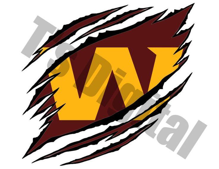 Washington Football Team Ripped Png Jpg Logo Etsy In 2021 Washington Football Football Team Football Team Logos