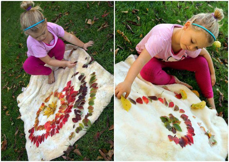 Obrazce z listí.