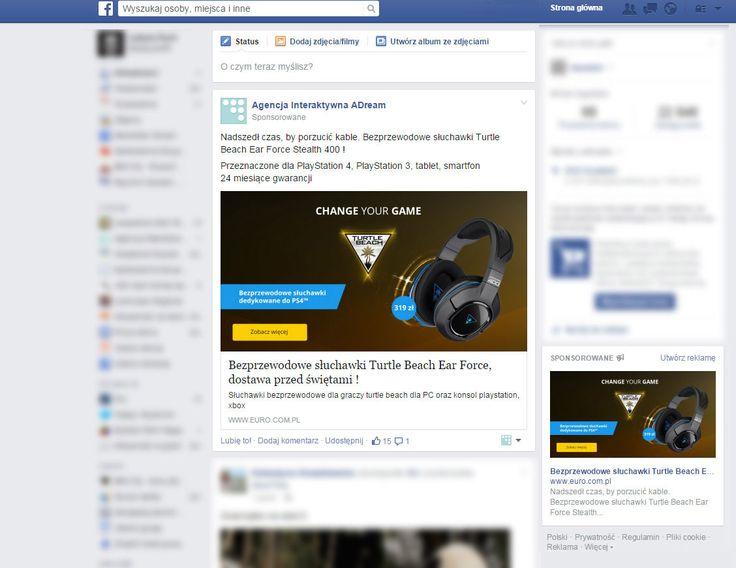 http://www.euro.com.pl/cms/sluchawki-turtle-beach.bhtml  Micro Site sprzedażowy dla słuchawek Turtle Beach w sklepie RTV EURO AGD. Dodatkowo prowadziliśmy kampanię na Facebooku oraz w Google ADwords.
