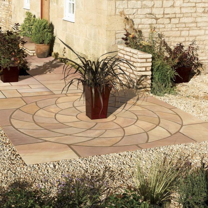 Nice moderne gartengestaltung mit stein garten gestalten mit kreis vorgarten gestalten mit steinen zentral