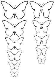 siluetas de mariposas para imprimir - Buscar con Google