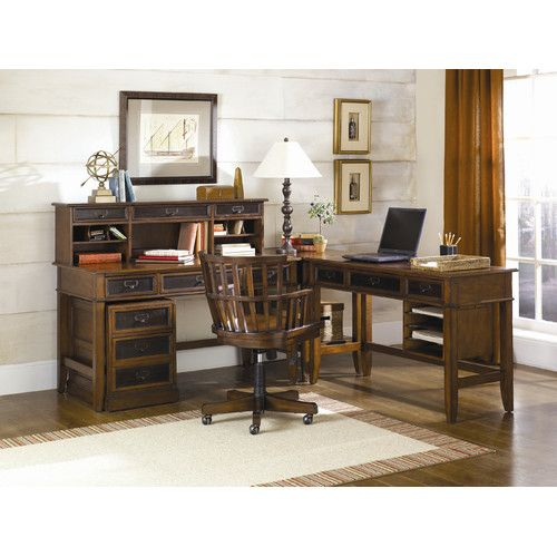 Found it at Wayfair - Mercantile 6-Piece Credenza Desk Office Suite