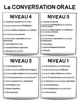 "Critres..""How to have a good conversation?"" en francais"