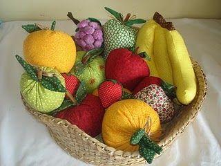 Moldes Para Artesanato em Tecido: Frutas de Tecido com Moldes