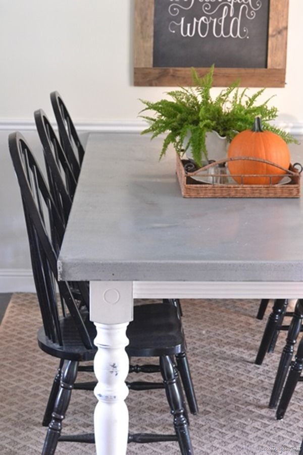 DIY Aged Zinc Table Top ~ fantastic blog post on how to create this table!