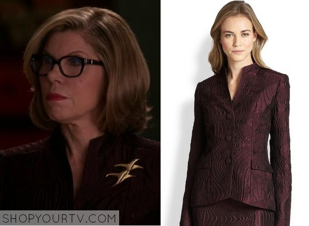 The Good Wife: Season 6 Episode 15 Diane's Burgundy Blazer