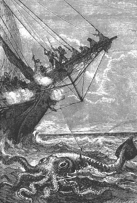 The Illustrated Jules Verne (1866-69) Vingt mille lieues sous les mers  illustrations by Alphonse de Neuville and Édouard Riou
