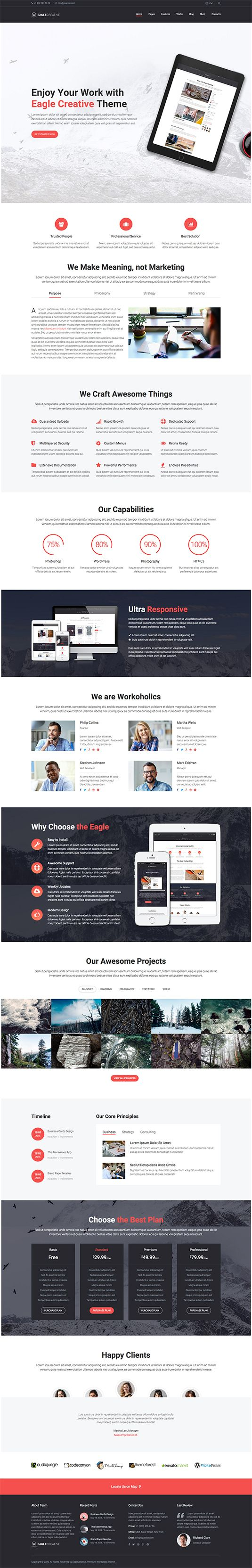 Eagle - Creative Business WordPress Theme