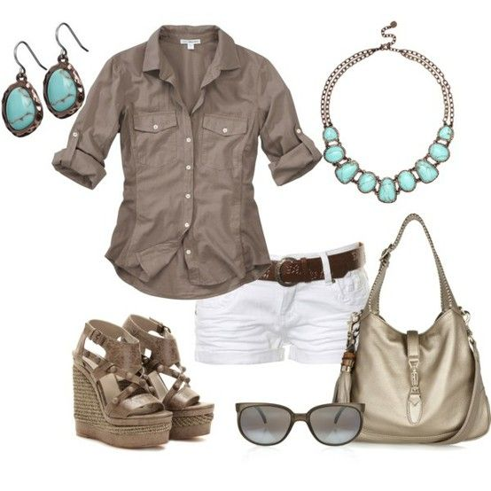 do u like it or not?: Shoes, White Shorts, Summer Looks, Summer Outfit, Style, Color Combos, Shirts, Wedges, Flats