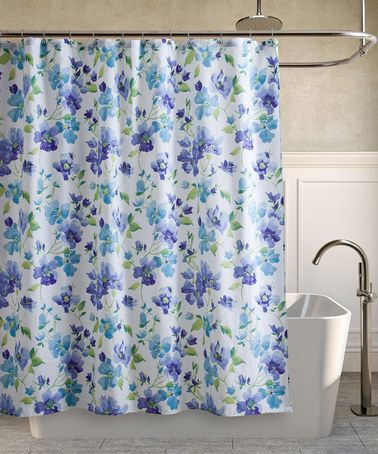 Laura Ashley Home Blue Amp White Portia Shower Curtain
