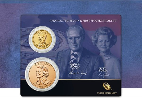 """Betty Ford made several speaking tours during her husband's 1976 Presidential election campaign. She was so popular that members of the audience wore lapel buttons that read """"Betty's Husband for President!"""""""