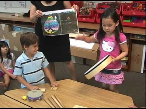 """Using a book to talk about music and to compose. """"I See A Song"""" - Kindergarten Music"""