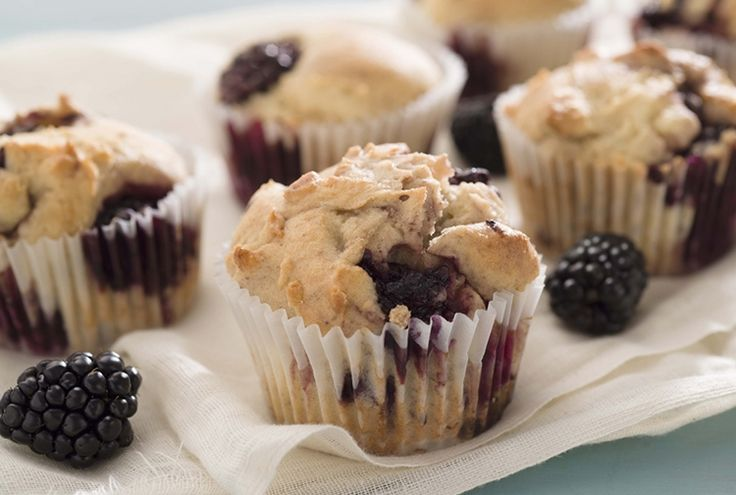 Gluten-Free Blackberry Muffin - A fiber-filled breakfast muffin featuring fresh Driscoll's blackberries.