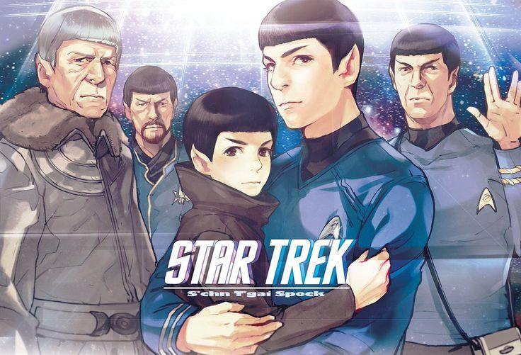 The many Spocks Awwwww spock is holding little spock!!!!