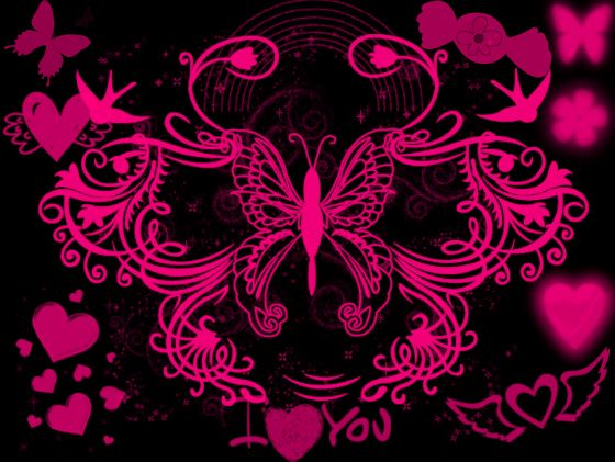black and pink wallpaper by angeldollyrockz on deviantart
